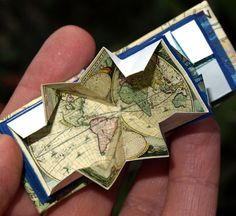 "Miniature book, replica ""maps of the ancient world"" 1 inch high pop out maps"