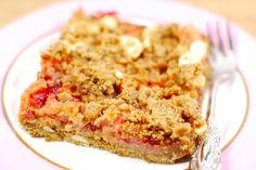 Himbeer-Rhabarber-Streuselkuchen, vegan