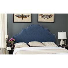Safavieh Mercer Collection Hallmar Denim Blue Arched Headboard, Queen