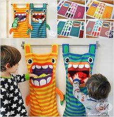 Bring Some Fun In Your Laundry Room with These Hungry Monster Laundry Hampers