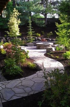 Beautiful landscape design. .. love the walking path too!
