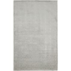Hand-knotted Mirage Silver Viscose Rug (9' x 12')   too shiny?