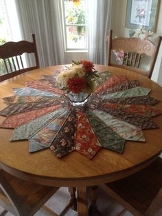 Large Dresden Table Topper by Creating4Fun on Etsy, $100.00 (made with dad's ties too)