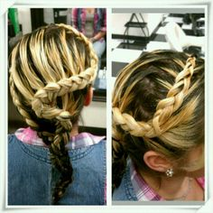 Back and side view of a braid by Annmaries Hair on Madison.