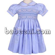 Nice blue smocked geometric dress for baby girls http://babeeni.com/Detail-nice-blue-smocked-geometric-dress-for-baby-girls---dr-2252-6113.aspx