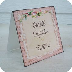 NEW  Personalized  Vintage  / Shabby by LittlePaperFarmhouse, $39.95