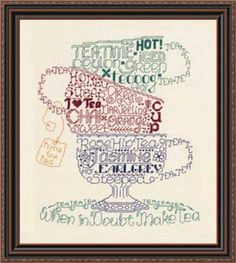 LET'S DO TEA - Counted Cross Stitch Pattern