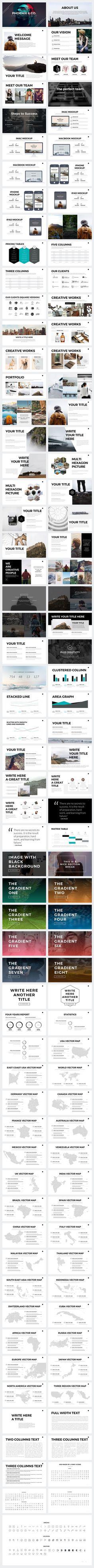 Phoenix Minimal Keynote Template by Slidedizer on @creativemarket