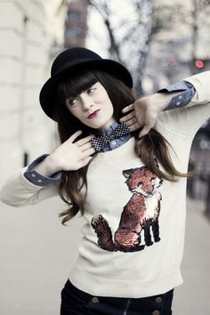 "Rachel of ""Jag Lever"" wearing UO's sweater. #urbanoutfitters"