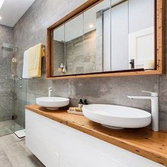 This recycled timber mirror surround was used by Holly & Steve in their Yarraville reno and now you can get your own (on SALE!) at The Block Shop. Just search 'Recycled timber' at http://ift.tt/1v9jaEU for all the details. #9renorumble #bathroom #bathroomdesign http://ift.tt/1YBayCg