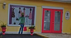 FiFi's  Ladies Upscale Thrift Store in Ferdanino Beach FL LOVE the window store front!
