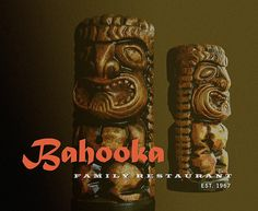Bahooka Menu cover Tiki Lounge, Tiki Hut, Restaurant, Graphic Design, Menu, Culture, Cover, Menu Board Design, Diner Restaurant