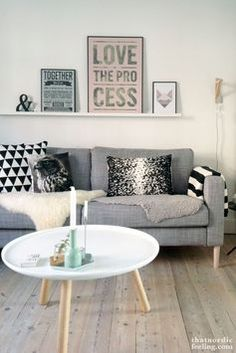 coffee table and wood floors love the wooden floor with this scandinavian interior very simple featuring the faux fur and angled leg coffee table