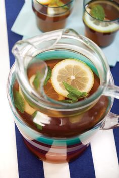Yummy blackcurrant iced tea - not too sweet, but can be adjusted to your taste buds. alive.com