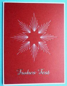 2014 - Selbstgemachte Weihnachtskarte