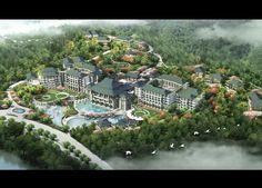 Hilton Wuyi Mountain Resort Mountain Resort, Master Plan, Beach Hotels, Layout, River, How To Plan, Building, Outdoor, Future