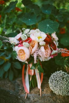 sweet bouquet // photo by Caroline Ghetes, flowers by Michael Daigian Designs // http://ruffledblog.com/colorful-sonoma-valley-wedding