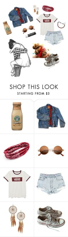 """""""i missed you this weekend"""" by musicnerd253 ❤ liked on Polyvore featuring Wrangler, Mudd, Vans, Miss Selfridge, Converse and Chapstick"""