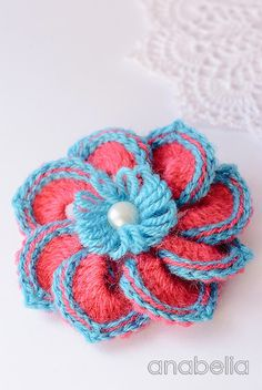 Marina crochet brooch by Anabelia
