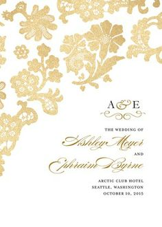 gold lace wedding programs - this could be pretty if you did something like snowflakes instead....