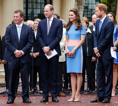 (L-R)Peter Phillips, Prince William, Duke of Cambridge, Catherine, Duchess of Cambridge and Prince Harry attend 'The Patron's Lunch' celebrations to mark Queen Elizabeth II's 90th birthday on The Mall on June 12, 2016 in London, England