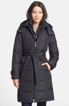 Ellen Tracy's Belted Down Coat Petite Nordstrom