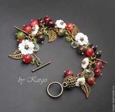 Купить Браслет Весна - ягоды, цветы, весна, 8 марта, подарок, браслет, Гроздь