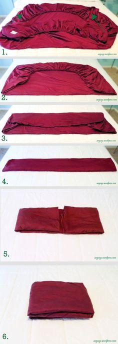 Eu devo admitir que dobrar roupas não é uma das minhas tarefas favoritas, mas encontrei algumas maneiras criativas para fazer isso. Preste muita atenção ao número 7, eu acho que é absolutamente brilhante!