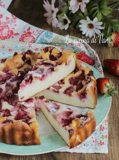 TORTA RICOTTA E FRAGOLE CREMOSA Healthy Cooking, Cooking Recipes, Easter Pie, Strawberry Recipes, Sweet Desserts, Italian Recipes, Sweet Tooth, Yummy Food, Yummy Recipes