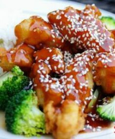 Better-Than-Takeout Sesame Chicken: Less than 300 calories and all the flavor you crave! This is a healthier version of PF Chang's signature dish. | via @SparkPeople #recipe #food #Chinese
