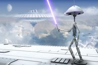 Every boy and man's dream. Let the force be with you. www.wallpaper24.co.uk