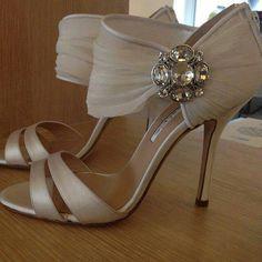 Oscar de la Renta wedding shoes.