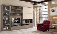 modern-smit-st-3000-comp-st01-by-mcs-furniture,-italy-31 Wall Unit Designs, Modern Wall Units, Small House Interior Design, Storage Design, Contemporary Interior, The Unit, Living Room, Furniture, Home Decor