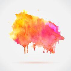 Colorful Watercolor Ink Vector Material