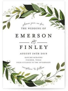 These invitations are so pretty! Vines of Green Wedding Invitations. #greenery #weddinginvitations #ad #wedding