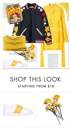 """SPRING"" by dragananovcic ❤ liked on Polyvore featuring Valentino and Chanel"