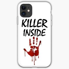 'Killer Inside - Bloody Imprint' iPhone Case by RIVEofficial Iphone 11, Iphone Cases, Invite, Invitations, Ipads, Laptops, Phones, Custom Design, It Works