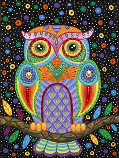 NEW moneyDIY Diamond Painting Animal Cute Owl round Mosaic Cross Stitch Diamont Embroidery Crsfts Wall Sticker Decoration Mandala Art, Owl Bird, Bird Art, Doodle Art, Owl Mosaic, Art Fantaisiste, Arte Country, Inspiration Art, Dot Painting