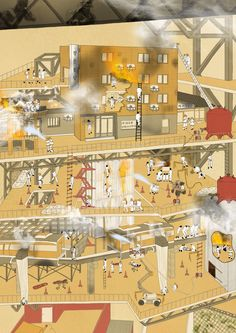 the attraction of risk, building fire experience architecture, drawing