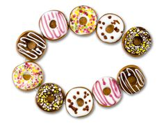 Donut Lampwork Bead Strand I want these