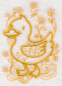 Doodle Duckling design (M12409) from www.Emblibrary.com