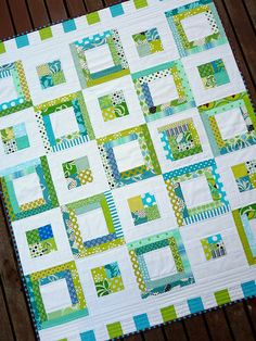 Would make a beautiful baby quilt!