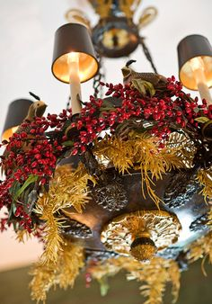 Decorative Chandelier...notice the partridges?
