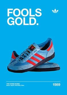 'Fools Gold' poster of adidas Manchesters and the Stone Roses