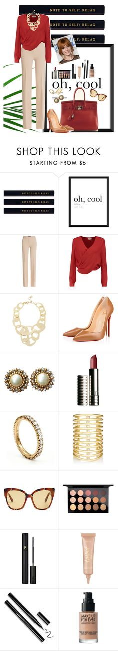 """office style"" by nympanyela ❤ liked on Polyvore featuring Derek Lam, Hermès, L'Agence, BCBGMAXAZRIA, Christian Louboutin, Chanel, Clinique, Cartier, Jules Smith and Gucci"
