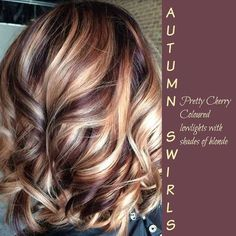 @ekthorpe07 next hair idea! :) maybe not as much blonde, but definitely a more purple/burgundy color than what I have now. But I definitely love the blonde!