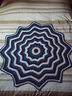 12 Point Round Ripple Ripple Afghan, Afghans and Free ...
