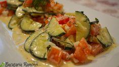 Simpla si foarte gustoasa, salata de castraveti cu sos de marar este un preparat italian ce se realizeaza in doar cateva minute iar rezultatul este o salata aromata si foarte gustoasa. Pentru a prepara salata de castraveti avem nevoie de doar 3 legume. Este vorba de castraveti, rosii si ceapa. Daca ceapa folosita este verde salata noastra va fi si mai gustoasa. Zucchini, Vegetables, Food, Salads, Essen, Vegetable Recipes, Meals, Yemek, Veggies
