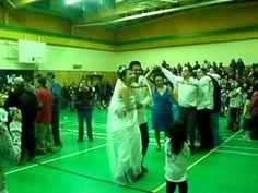 wedding round dance .......doing the owl dance