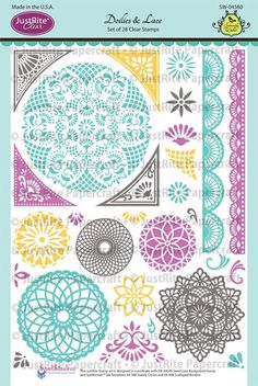 Sweet Lace Background Cling Stamp